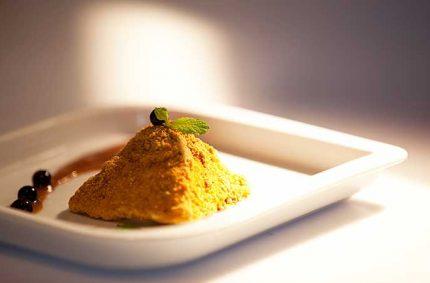 Pyramide de Selles Sur Cher au pain d'épice et son caramel au beurre salé