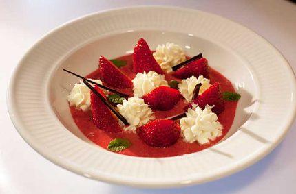 Soupe de fraises à la crème Selloise
